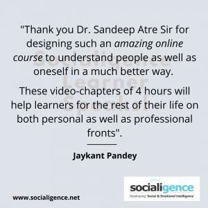 Jaykant Pandey Testimonial